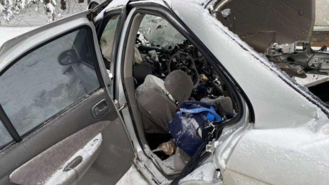 25-летняя девушка убилась насвоем Nissan вМарий Эл