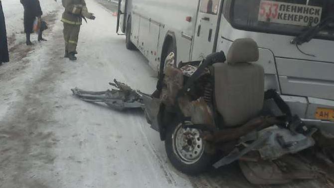 В ДТП с автобусом в Кемеровской области погиб человек
