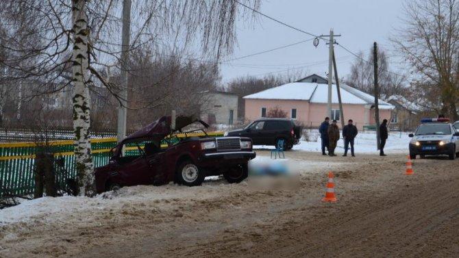 В Рязанской области ВАЗ врезался в дерево – погиб 17-летний парень