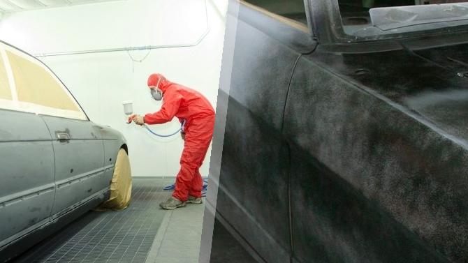 Нанесение грунтовки на авто перед покраской