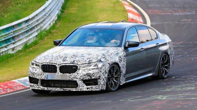 Обновлённый спорт-седан BMW M5 CSпредставят через месяц