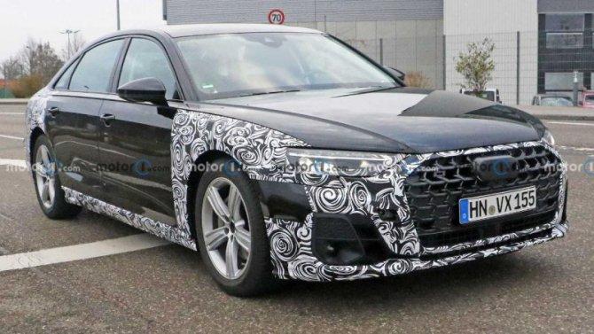 Наиспытания выехал обновлённый Audi A8
