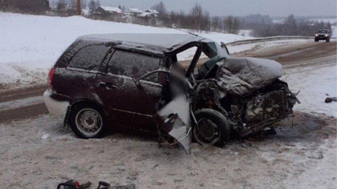 Женщина погибла в ДТП под Шенкурском в Архангельской области