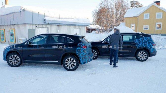 На дорогах замечены прототипы новых электромобилей Mercedes-Benz
