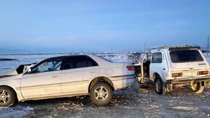 Врезультате столкновения вБурятии пострадал водитель «Нивы»