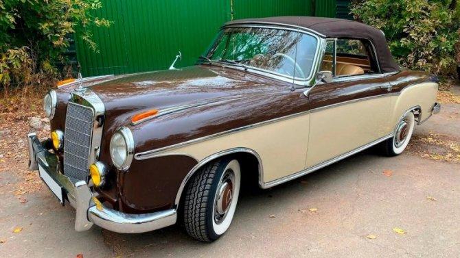 ВРоссии продаётся 70-летний кабриолет Mercedes-Benz