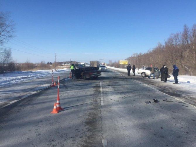 Водитель ВАЗа погиб в ДТП под Омском (2)