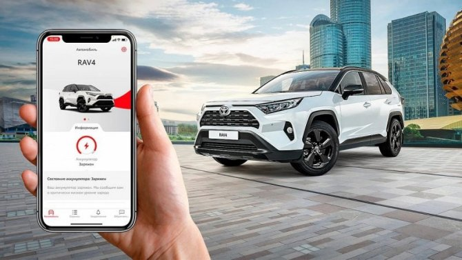 Известны рублёвые цены наподключенные ксмартфонам владельцев автомобили Toyota