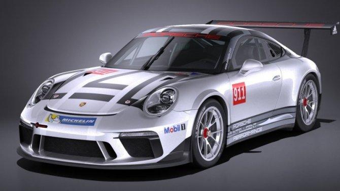 Представлен гоночный болид Porsche 911 GT3 Cup