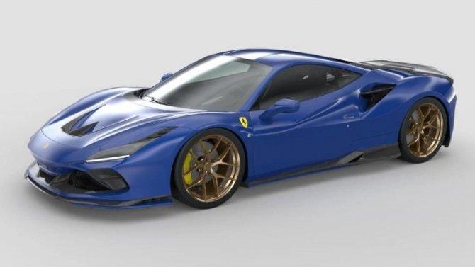 Ferrari F8 Tributo получил напечатанный на3D-принтере обвес