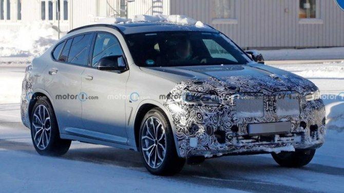 Опубликованы снимки салона рестайлингового BMW X4