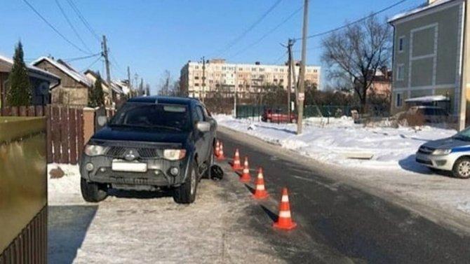 «Мицубиси» сбил бабульку вКалининградской области
