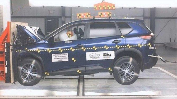 Краш-тест Nissan Rogue получился неочень впечатляющим