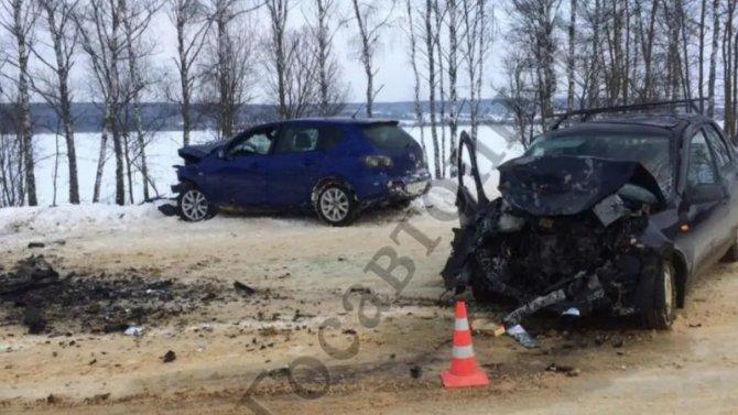 Столкновение двух машин вТульской области закончилось смертью