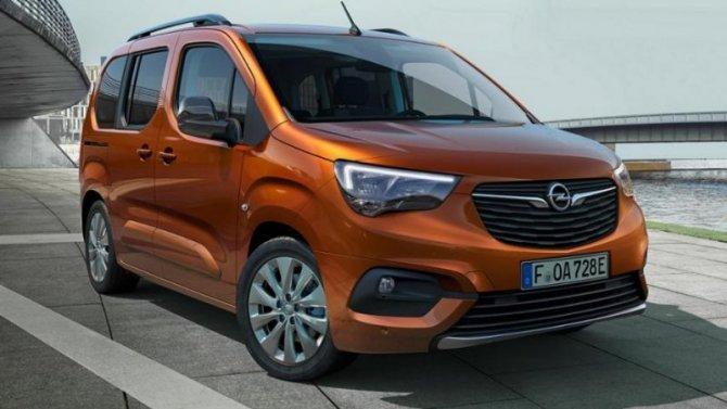 Представлен электрический минивэн Opel Combo-e Life
