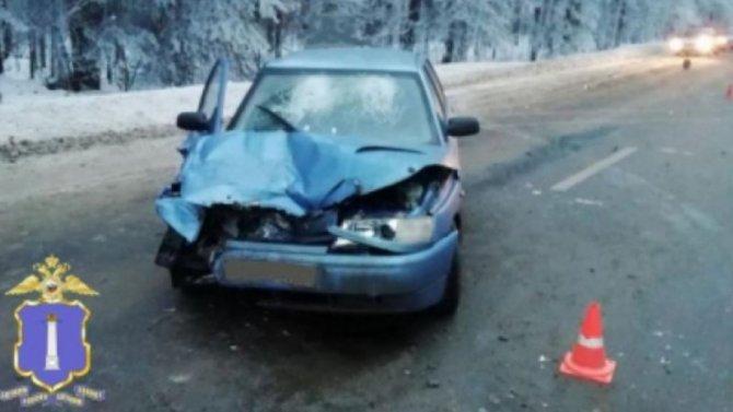 Массовое ДТП вУльяновской области, пассажир легковушки получил травмы