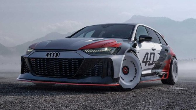 Гоночный болид Audi RS6 GTO стал «фотомоделью»