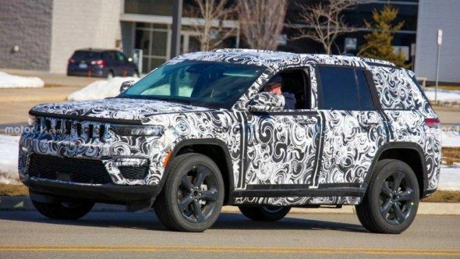 Начались испытания пятиместной версии нового Jeep Grand Cherokee