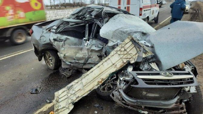 Водитель «Лады» погиб в ДТП с грузовиком в Тамбовской области