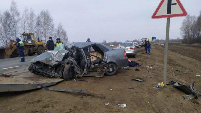 Три человека погибли в ДТП в Первомайском районе Тамбовской области