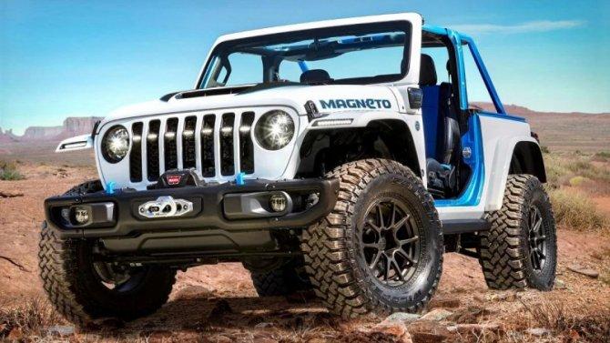 Представлен электрический внедорожник Jeep Magneto Concept