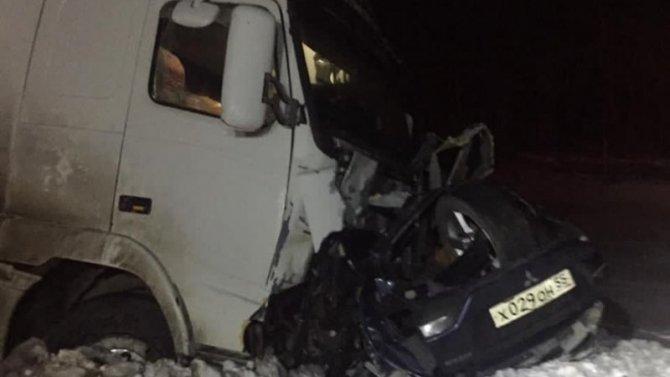 Два человека погибли в ДТП с большегрузом в Омской области
