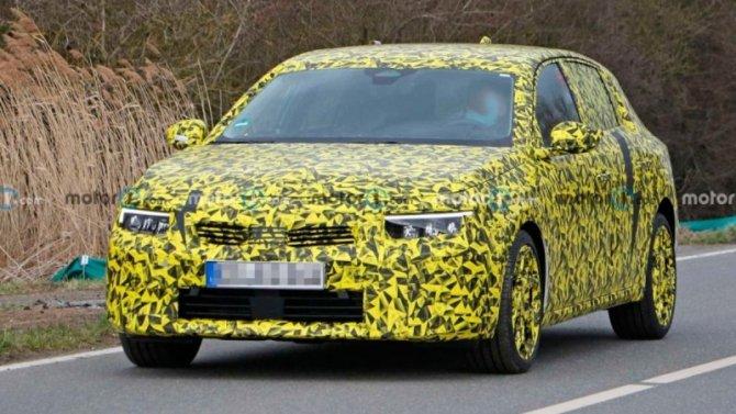 Начались испытания нового Opel Astra
