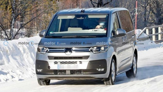ВШвеции замечены «мулы» минивэна Volkswagen T7 нового поколения