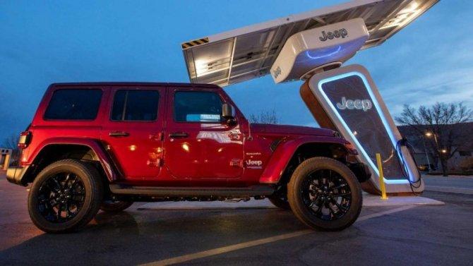 Jeep откроет фирменные зарядные станции