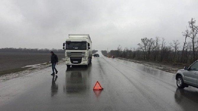 Две девочки пострадали в ДТП с грузовиком в Ростовской области