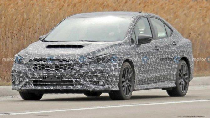 Начались испытания нового Subaru Impreza WRX
