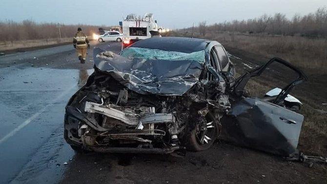 Водитель иномарки погиб в ДТП в Тоцком районе Оренбургской области