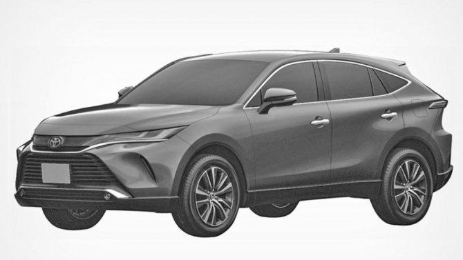 ВРоссии запатентован кроссовер Toyota Venza