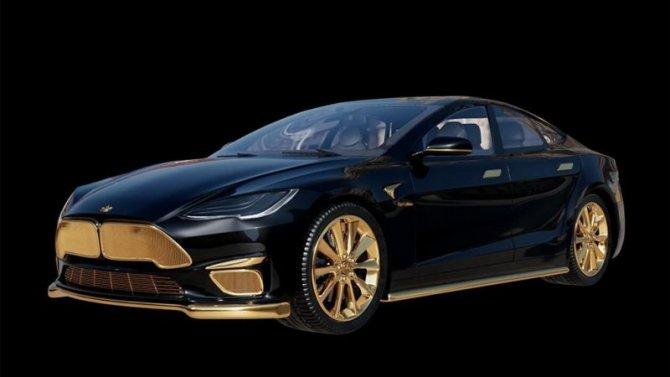 Седан Tesla Model S стал объектом дикого тюнинга
