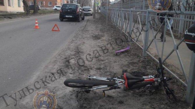 В Киреевске сбили 15-летнюю велосипедистку