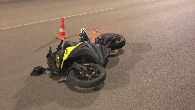 Мотоциклист попал в ДТП в Тамбове