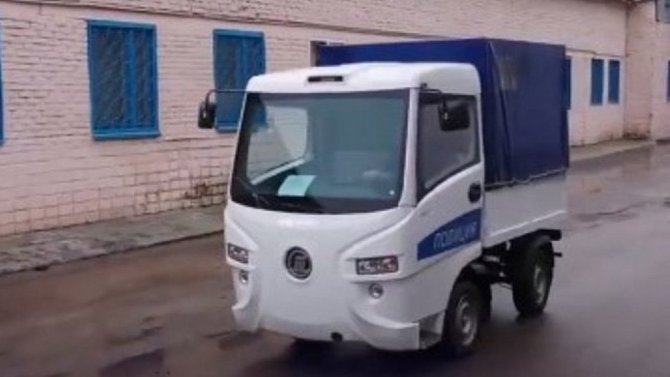 Электрокар «Муравей» получил полицейскую модификацию