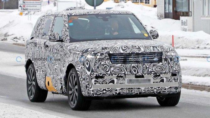 Начались испытания обновлённого Range Rover