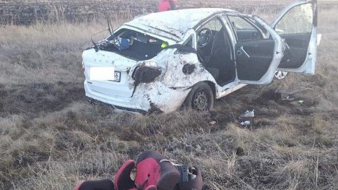 При опрокидывании «Лады» в Оренбургской области погибла женщина
