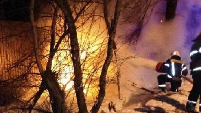 В Калуге иномарка врезалась в дерево и загорелась – погибли трое