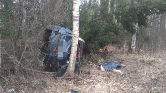 Женщина погибла при опрокидывании машины в Тверской области
