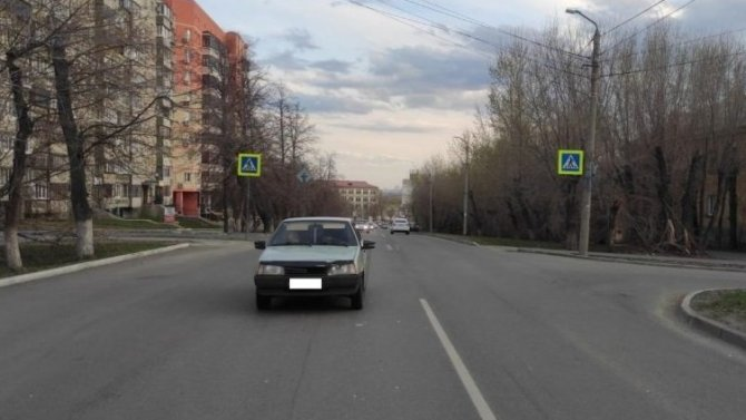 В Челябинске ВАЗ сбил ребенка на переходе
