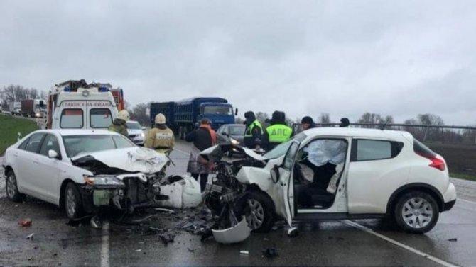Женщина-водитель погибла в ДТП в Славянском районе Краснодарского края