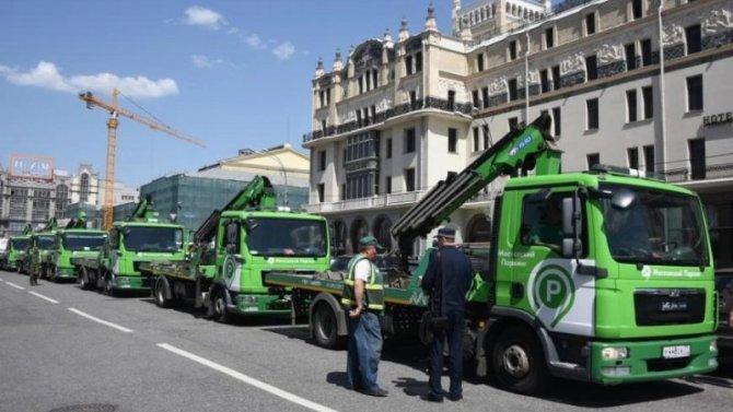 ВМоскве подорожала эвакуации автомобилей-нарушителей