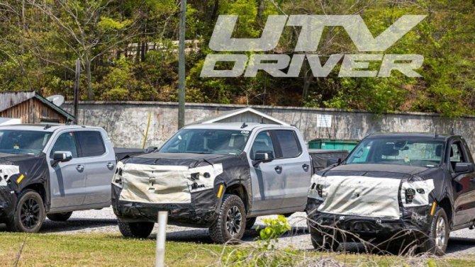 Появились снимки обновлённых пикапов Chevrolet Silverado