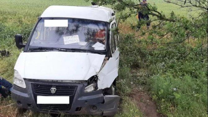 В ДТП с маршруткой в Ставропольском крае пострадал человек
