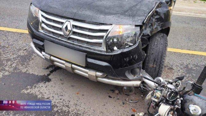 Водитель мопеда погиб в ДТП в Юрьевецком районе Ивановской области