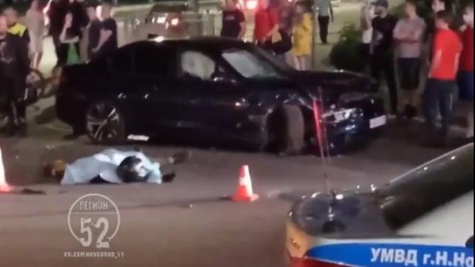 Два человека погибли в ДТП с мотоциклом в Нижнем Новгороде