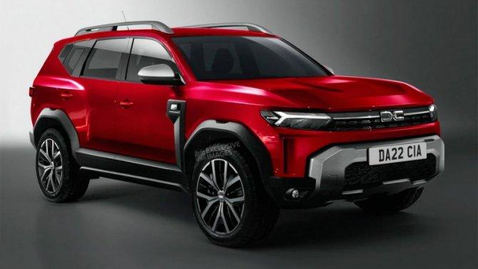 Появились рендеры будущего кроссовера Dacia Bigster