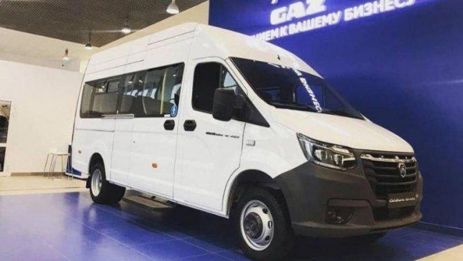 Появились снимки электрического микроавтобуса «ГАЗель e-NN»